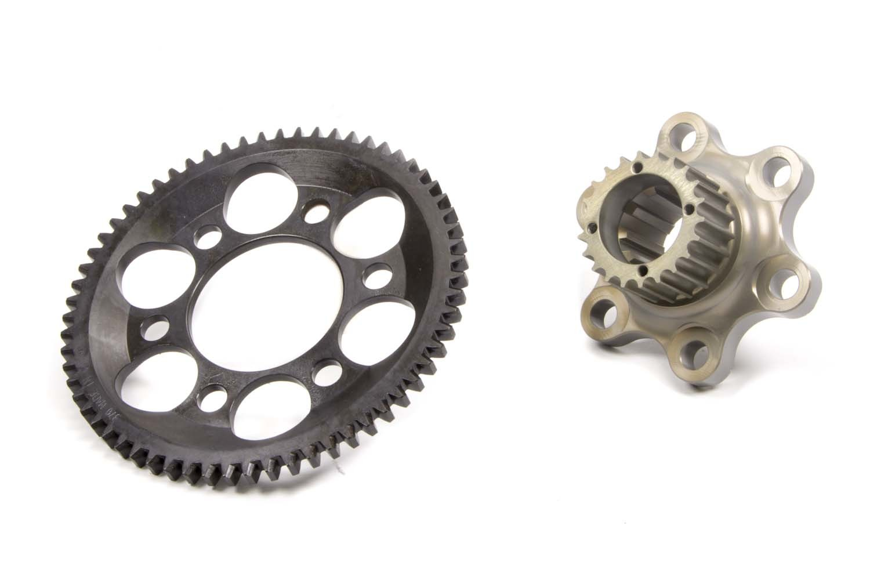 Bert Transmissions 370-L-H Flywheel, Lightweight, 2 Piece, Internal Balance, HTD Pulley, Aluminum, Bert Transmission, Chevy V8, Kit