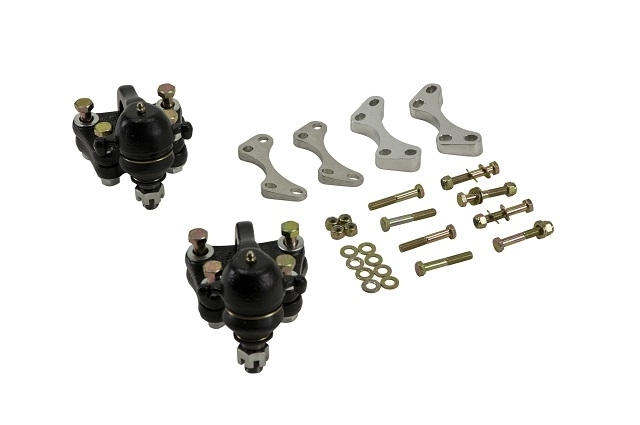 Bell Tech 2103 Lowering Ball Joint Kit, 2 in Lowering, Ball Joints / Drop Brackets / Hardware, Iron / Steel, GM Colorado / Canyon 2004-12, Kit