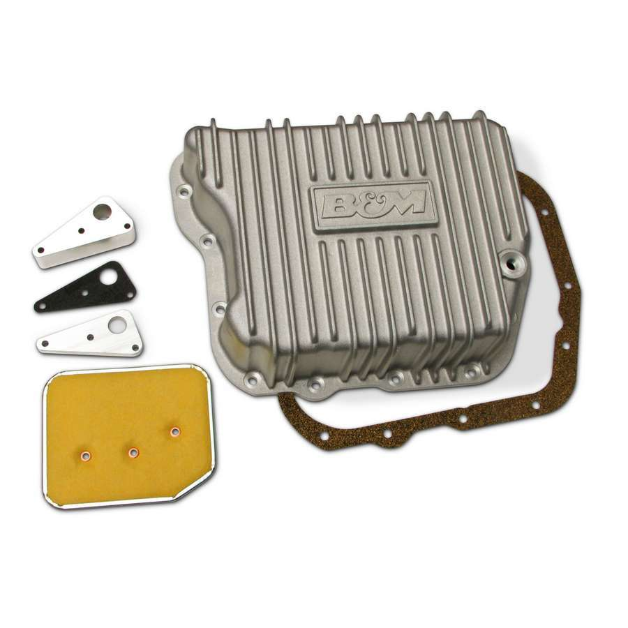 B & M Automotive 10280 Transmission Pan, Deep Sump, Adds 4.0 qt Capacity, Aluminum, Natural, Torqueflite 727 / 518 / 618 / Cummins 48RE, Each