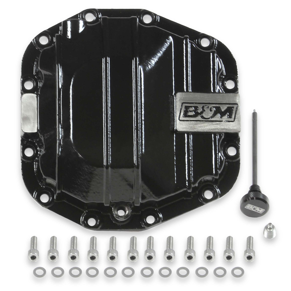 B & M Automotive 12313 Differential Cover, Hardware Included, Iron, Black Powder Coat, Dana 44, Rear, Jeep Wrangler JL 2018-19, Each