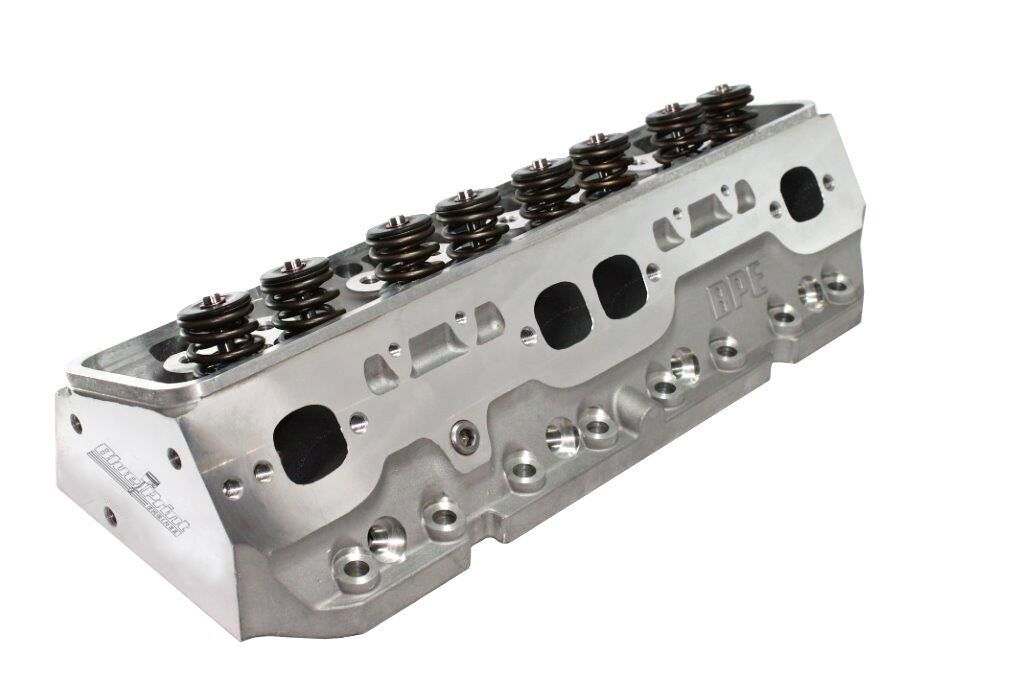 Blueprint Engines H8002K Cylinder Head, Muscle Series, Assembled, 2.020 / 1.600 in Valves, 195 cc Intake, 64 cc Chamber, 1.437 in Spring, Aluminum, Small Block Chevy, Pair
