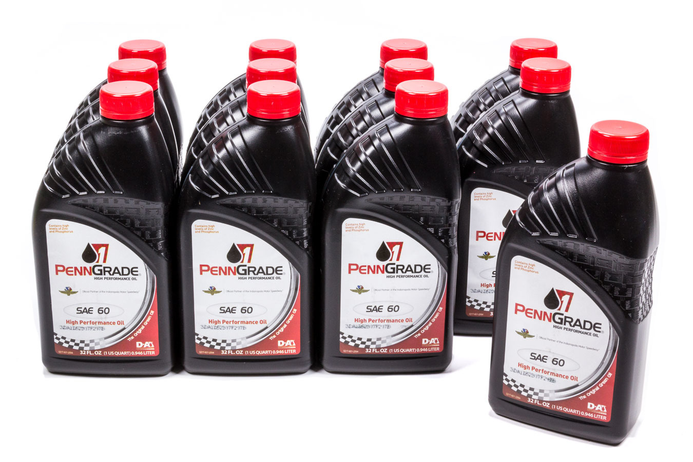 Penngrade Motor Oil 71166-12 Motor Oil, High Zinc, 60W, Conventional, 1 qt, Set of 12