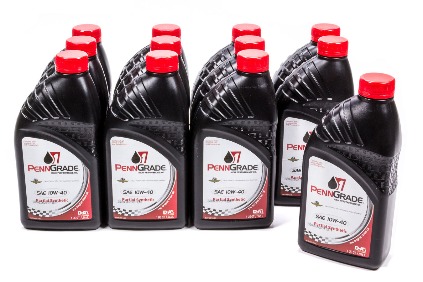 10w40 Racing Oil Cs/12Qt Partial Synthetic