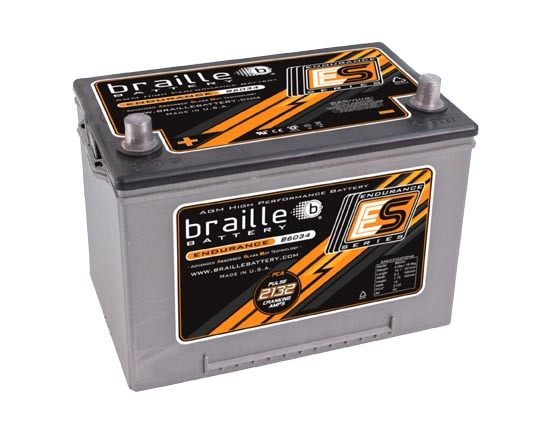 Braille Auto Battery B6034 Battery, Endurance Series, AGM, 12V, 2132 Pulse Cranking Amp, Top Post Terminals, 10.1 in L x 7.75 in H x 6.3 in W, Each