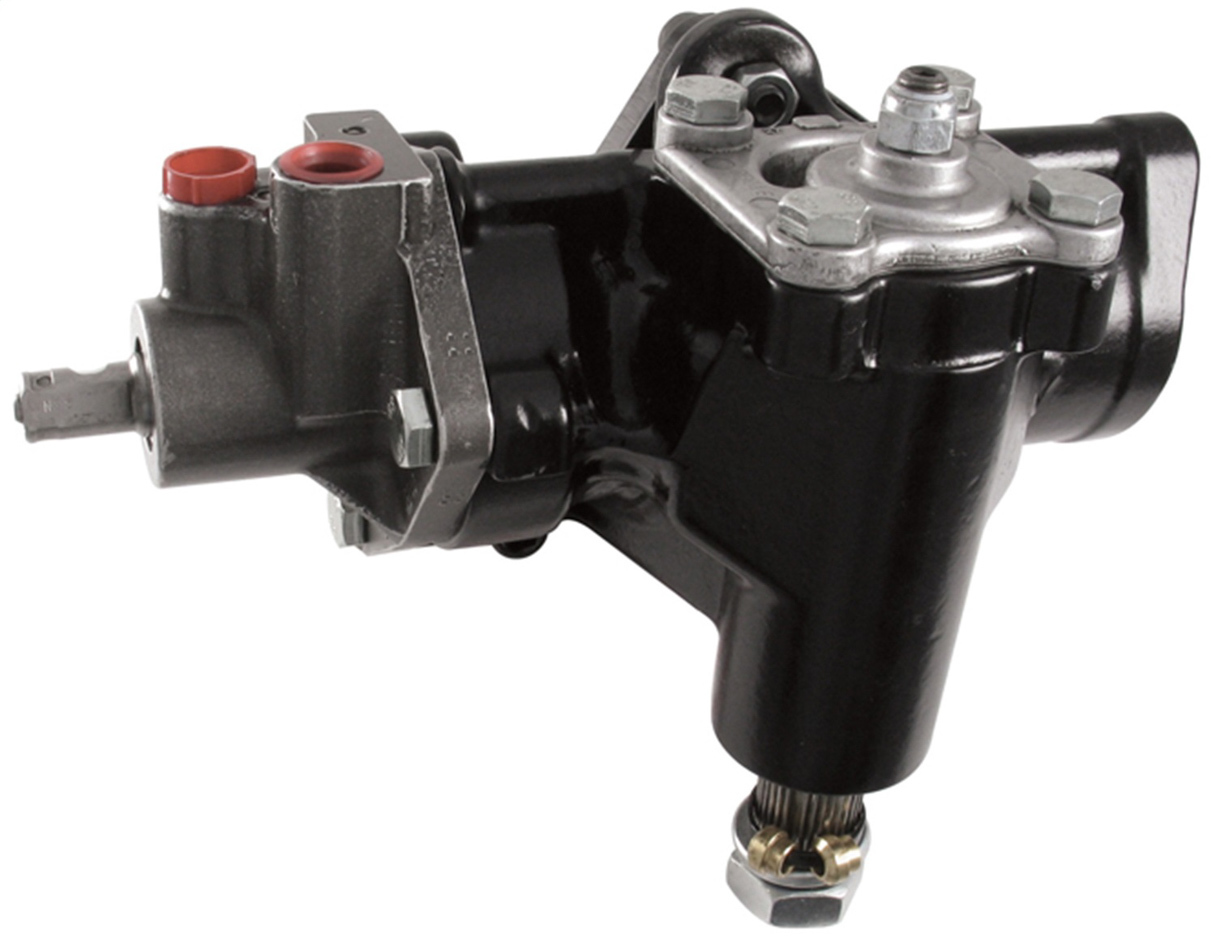 Borgeson 800106 Steering Box, Power, Delphi 600 Series, 14 to 1 Ratio, Iron, Black Paint, Chevy Car 1958-64, Each