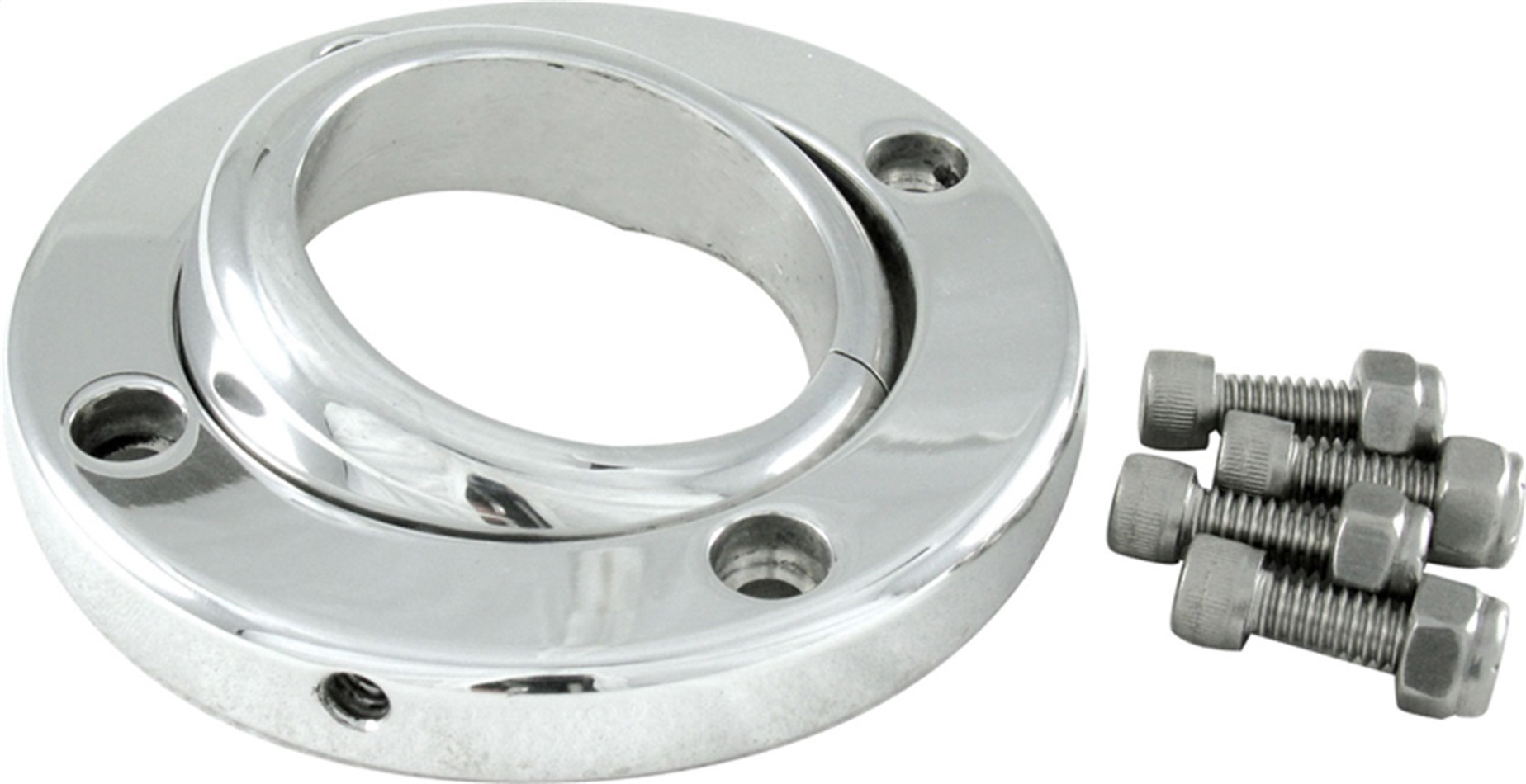 Borgeson 909002 Steering Column Bracket, 3-3/4 in Outer Diameter, 1-3/4 in Diameter Tube, Swivel, Aluminum, Polished, Each