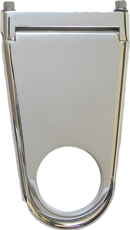 Borgeson 911202 Steering Column Bracket, Solid, 2 in Diameter Tube, 2 in Drop, Hinged Base, Billet Aluminum, Polished, Each