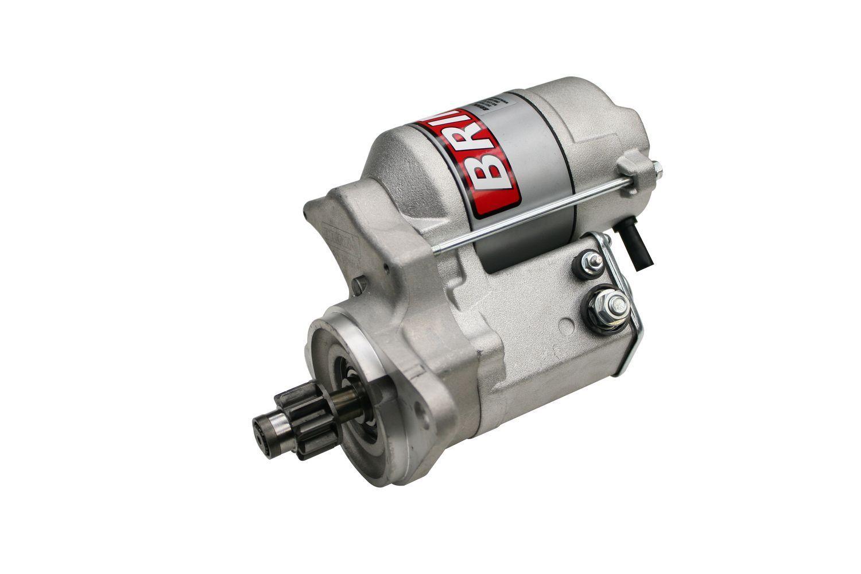 Brinn Transmission 79060 Starter, Reverse Mount, Aluminum, Natural, Bert / Brinn Transmission, Small Block Chevy, Each
