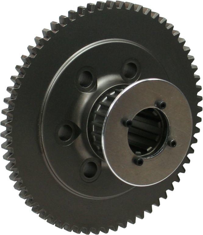 Brinn Transmission 79073 Flywheel, 65 Tooth, 5.4 lb, HTD Pulley, Steel, Brinn Transmission, Ford V8, Each