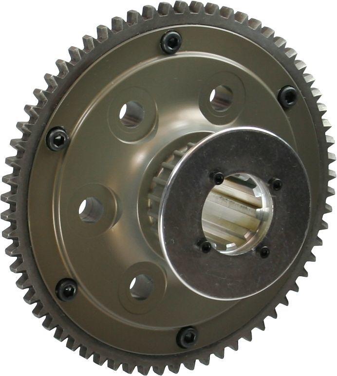 Brinn Transmission 79084 Flywheel, 65 Tooth, 2.6 lb, HTD Pulley, Aluminum, Brinn Transmission, 2 Piece Seal, Chevy V8, Each
