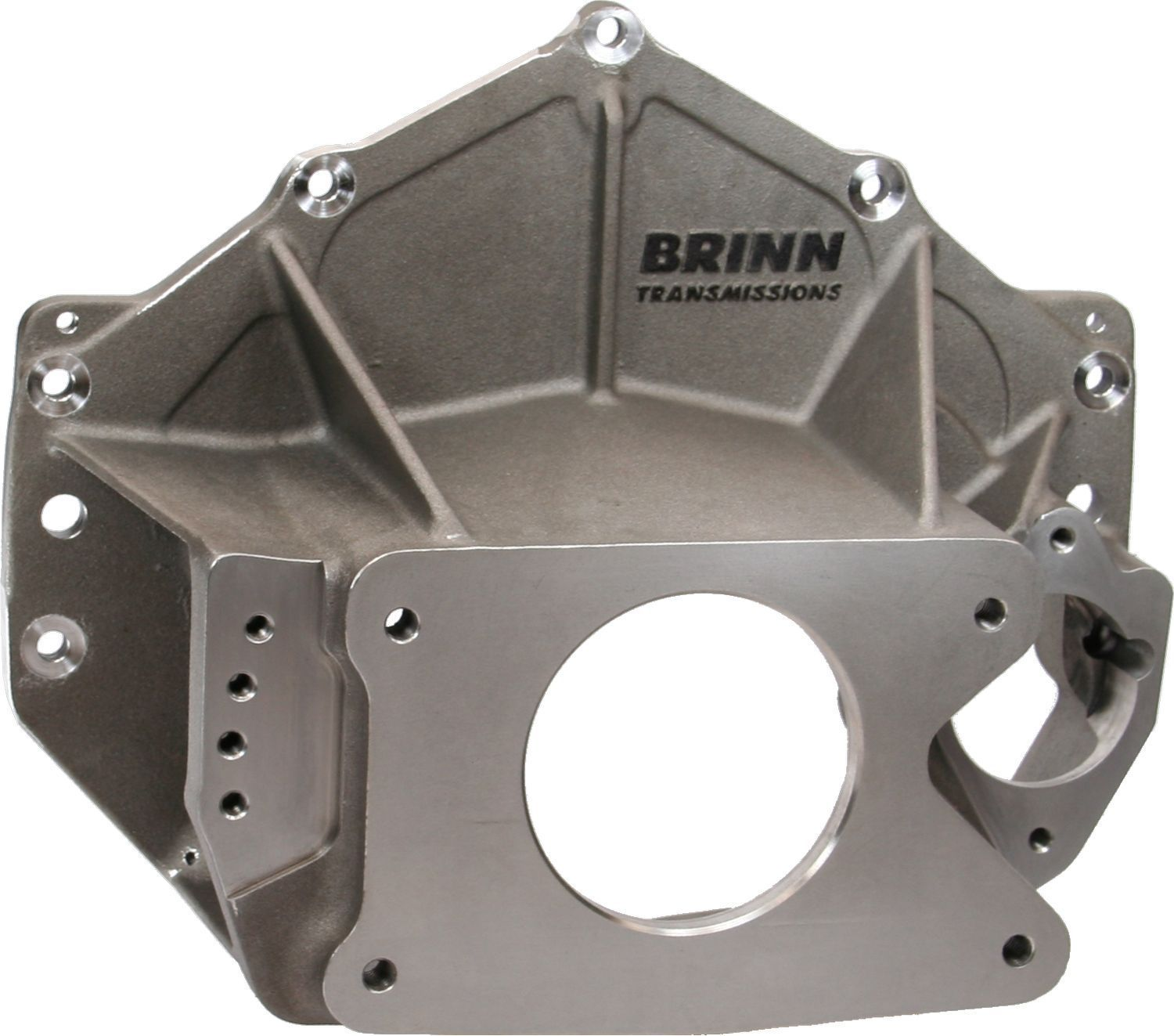 Brinn Transmission 79104 Bellhousing, Reverse Mount, Idler Gear, Side Pump Mount, Magnesium, Natural, Brinn Transmission, Chevy V8, Each