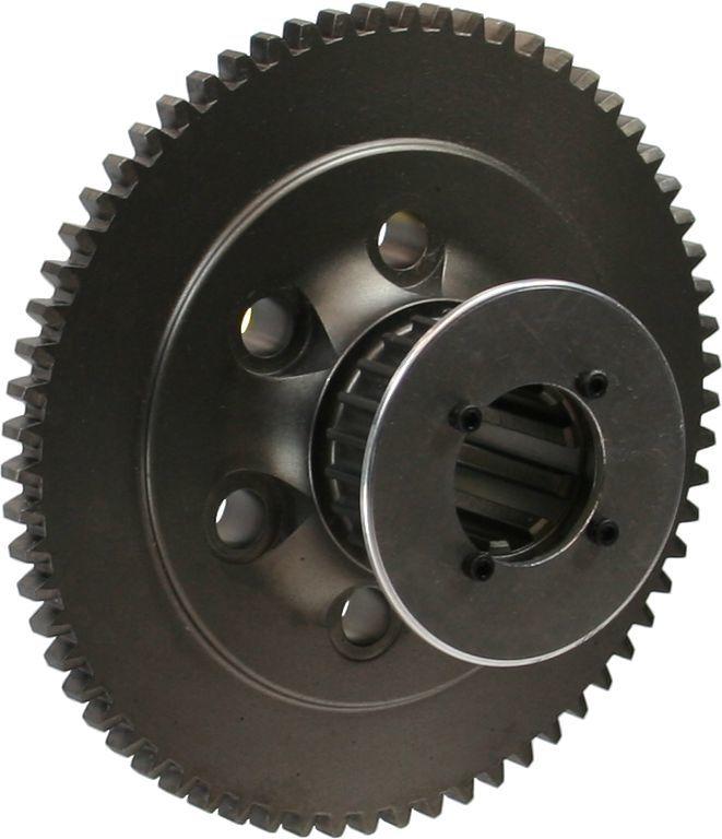 Brinn Transmission 79111 Flywheel, 65 Tooth, 4.4 lb, HTD Pulley, Steel, Brinn Transmission, 1 Piece Seal, Chevy V8, Each