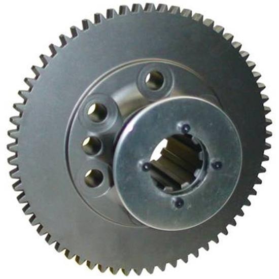 Brinn Transmission 79151 Flywheel, 65 Tooth, 2.57 lb, HTD Pulley, Aluminum, Brinn Transmission, Chevy V8, Each