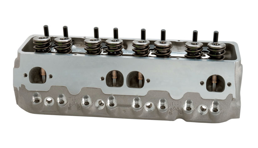 Brodix 1008100 Cylinder Head, STS T1, Assembled, 2.080 / 1.600 in Valves, 215 cc Intake, 68 cc Chamber, 1.550 in Springs, Aluminum, Small Block Chevy, Pair