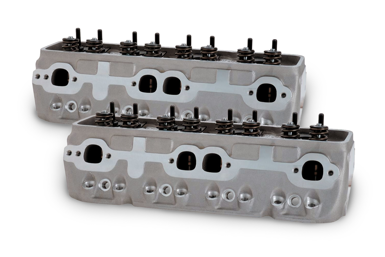 Brodix 1021001 Cylinder Head, IK 200, Assembled, 2.020 / 1.600 in Valves, 200 cc Intake, 64 cc Chamber, 1.470 in Springs, Aluminum, Small Block Chevy, Pair