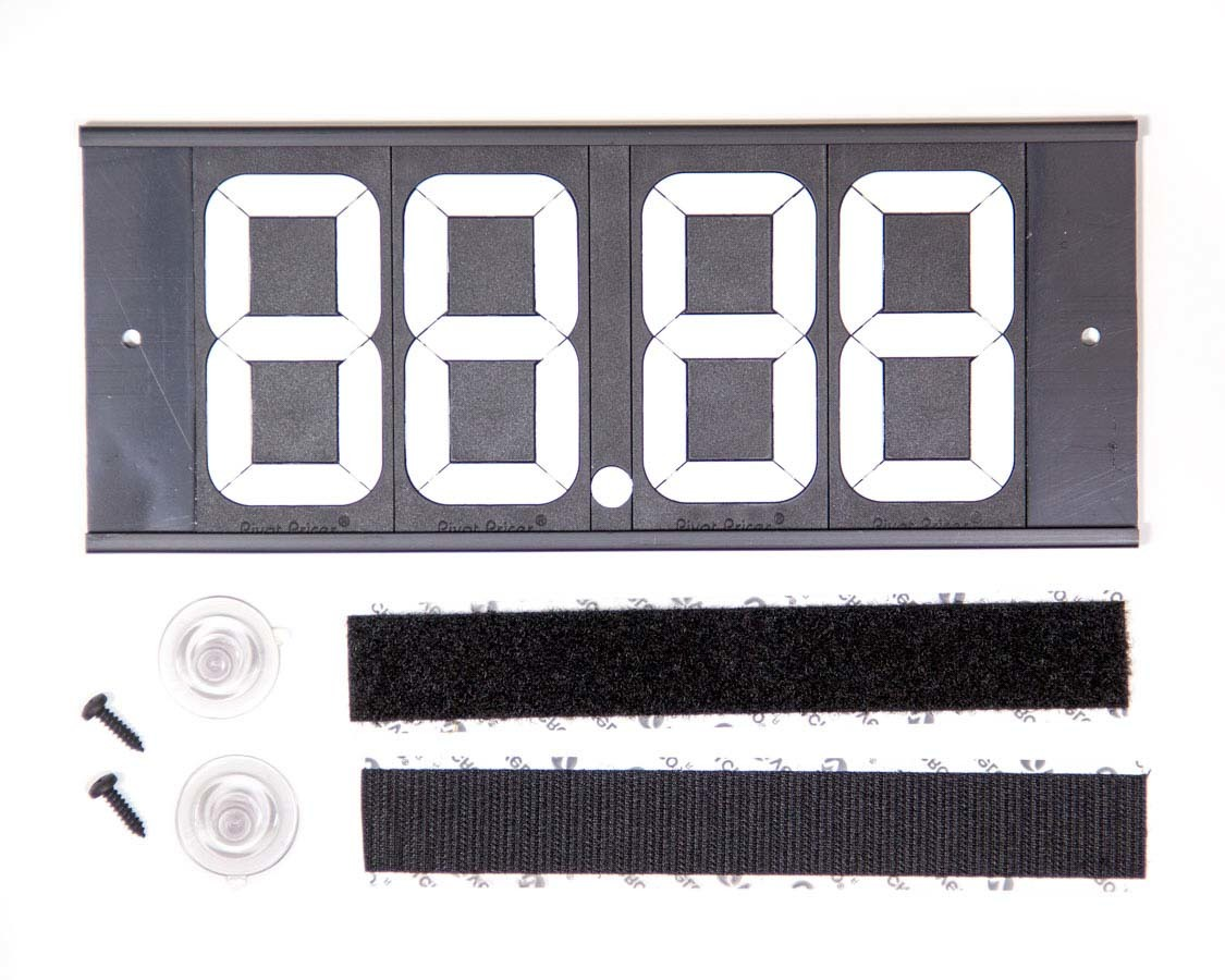 Biondo Racing Products DB-1246 Dial-In Board, 4 Digit, Plastic, Black / White, Each