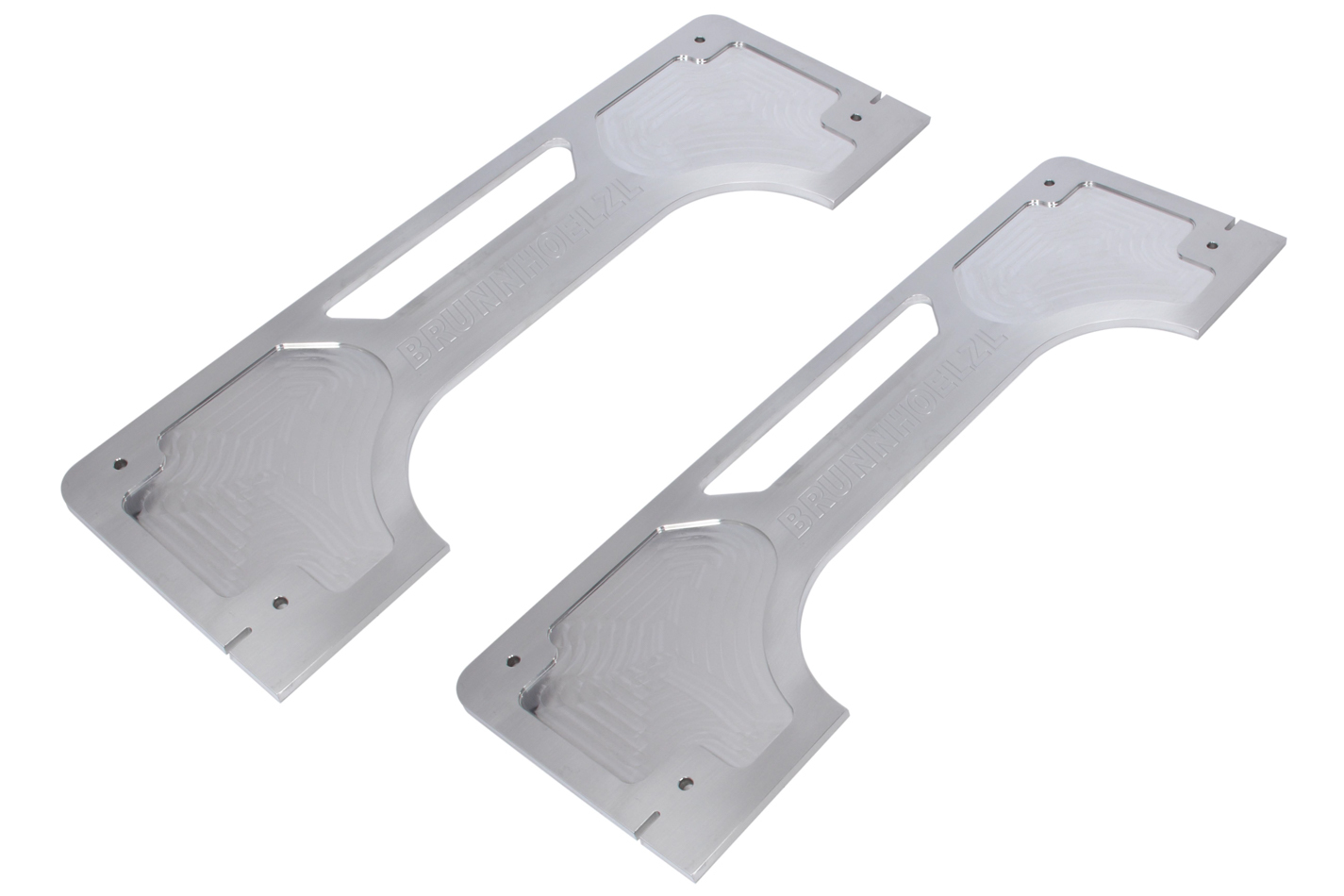 Brunnhoelzl 193 Toe-In Plates, Pro Toe Plates, Aluminum, Natural, Pair