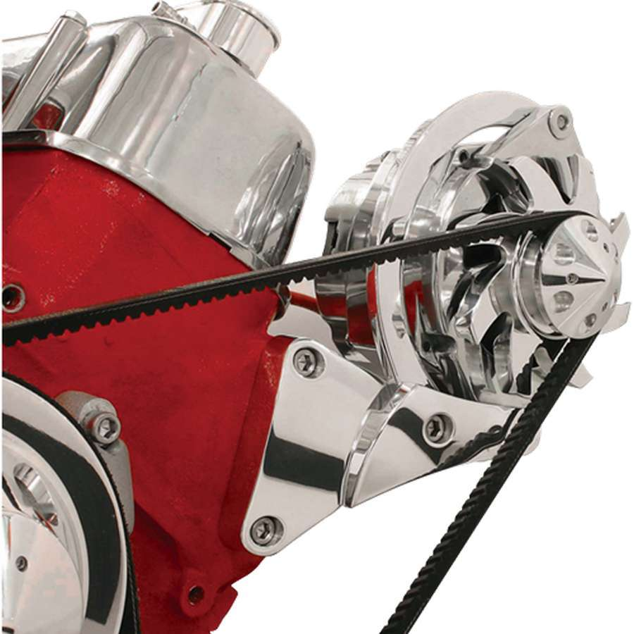 Billet Specialities 10620 Alternator Bracket, Driver Side, Head Mount, Billet Aluminum, Polished, GM Alternator, Short Water Pump, Big Block Chevy, Kit