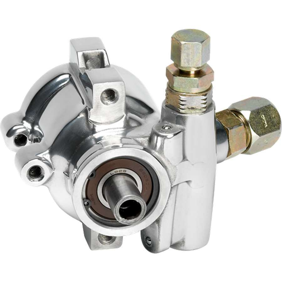 Billet Specialities 12025 Power Steering Pump, GM Type 2, 3.5 gpm, 1200 psi, 10 AN Male Inlet, 6 AN Male Outlet, Aluminum, Polished, Each