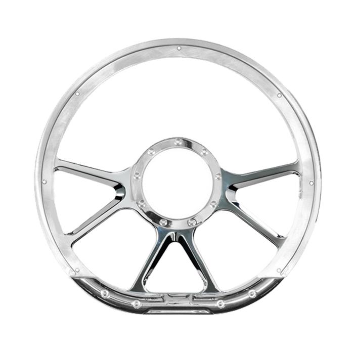 Billet Specialities 29475 Steering Wheel, Prism, 14 in Diameter, 6 Spoke, Aluminum, Polished, Each