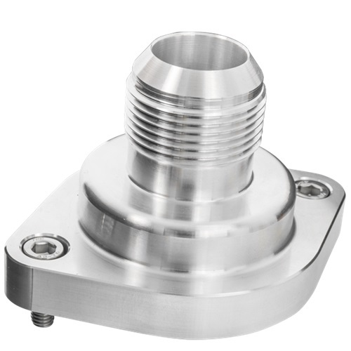 Billet Specialities 90900 Water Neck, Straight, 16 AN Male, Hardware / O-Ring Included, Aluminum, Natural, GM LS-Series, Each