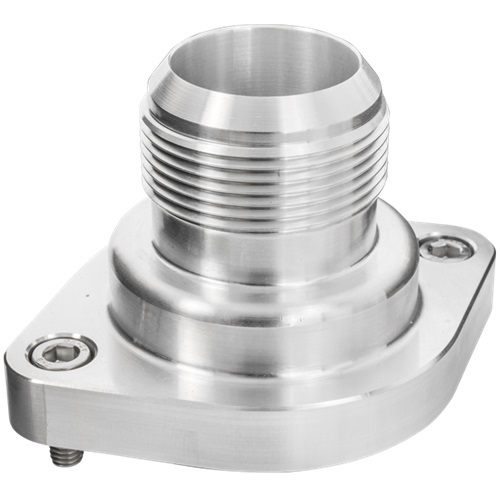 Billet Specialities 90920 Water Neck, Straight, 20 AN Male, Hardware / O-Ring Included, Aluminum, Natural, GM LS-Series, Each
