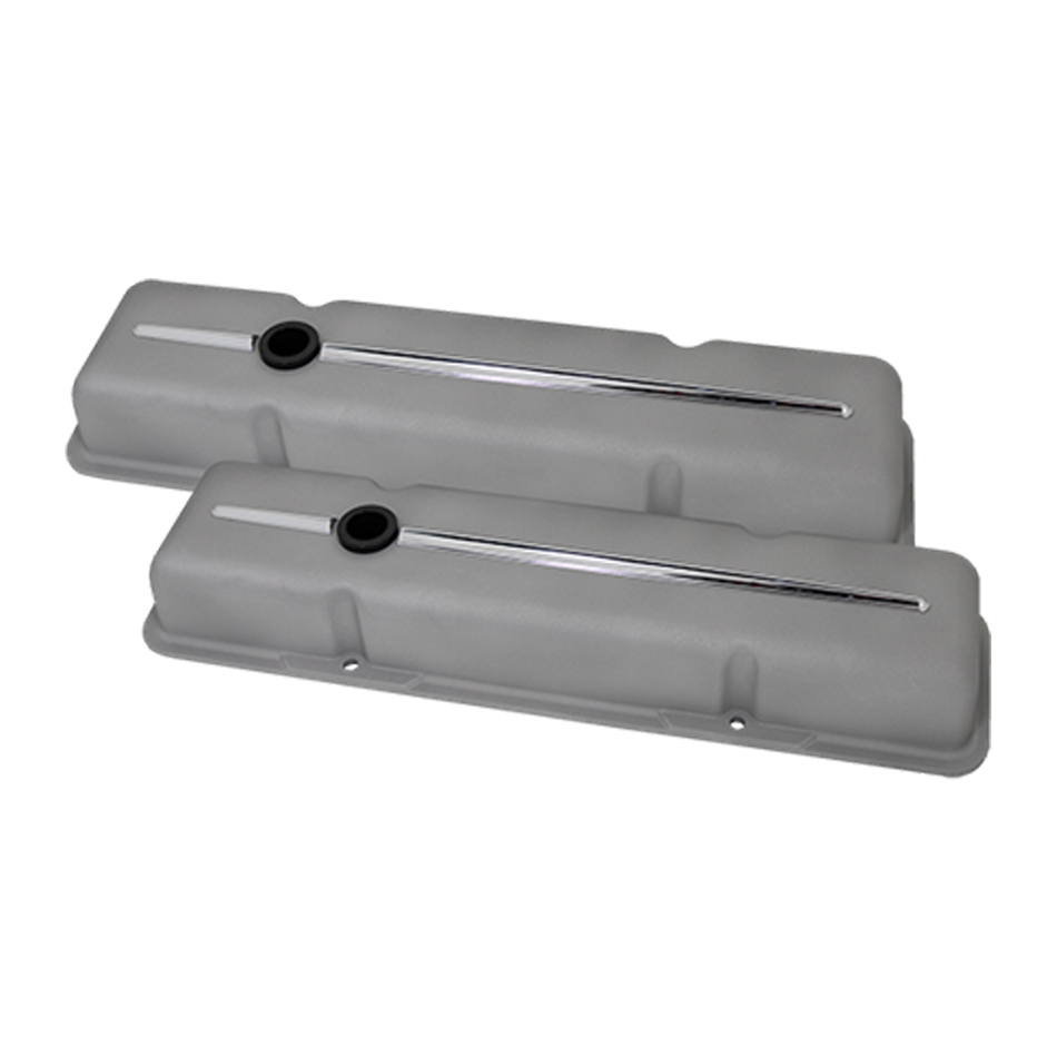 Billet Specialities 95124RTF Valve Cover, Streamline Ready to Finish, Short, Baffled, Breather Hole, Grommets, Billet Aluminum, Natural, Small Block Chevy, Pair