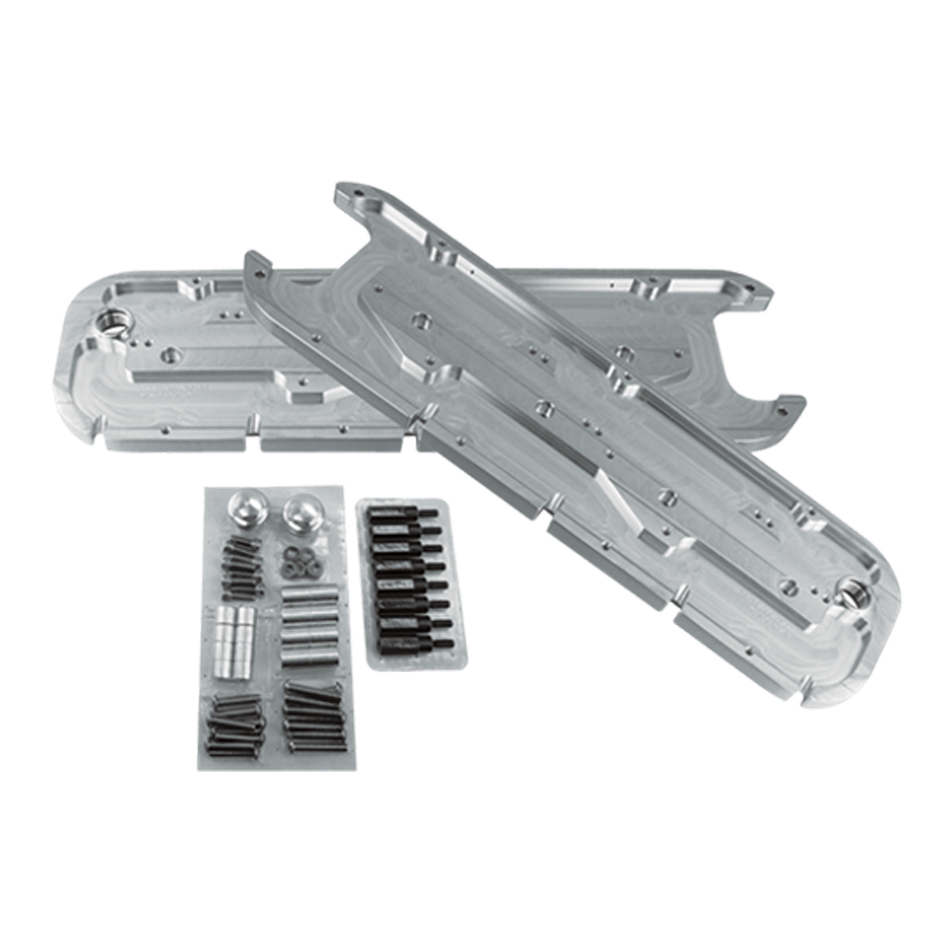Billet Specialities 96037 Valve Cover Adapter, GM LS-Series to Big Block Chevy, Hardware Included, Aluminum, Natural, GM LS-Series, Kit