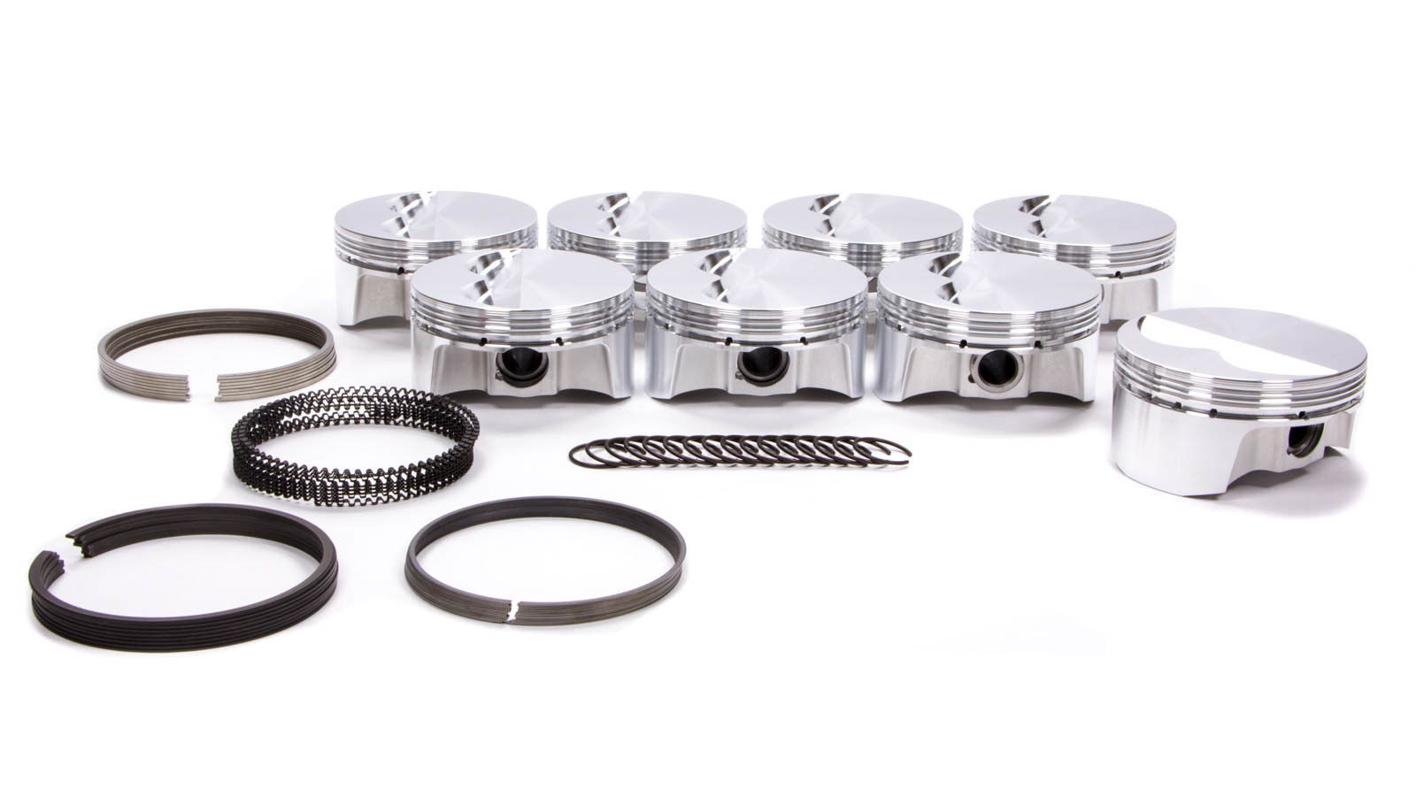 Bullet Pistons BC1025-030-8 Piston and Ring, Forged, 4.030 in Bore, 1.5 x 1.5 x 3 mm Ring Grooves, Minus 6.8 cc, Small Block Chevy, Kit