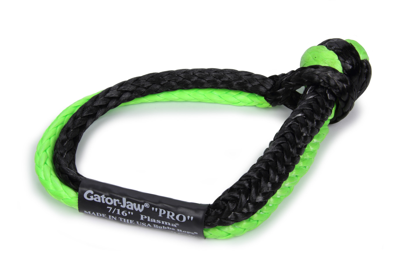 7/16in Gator Jaw Soft Shackle Green/Black