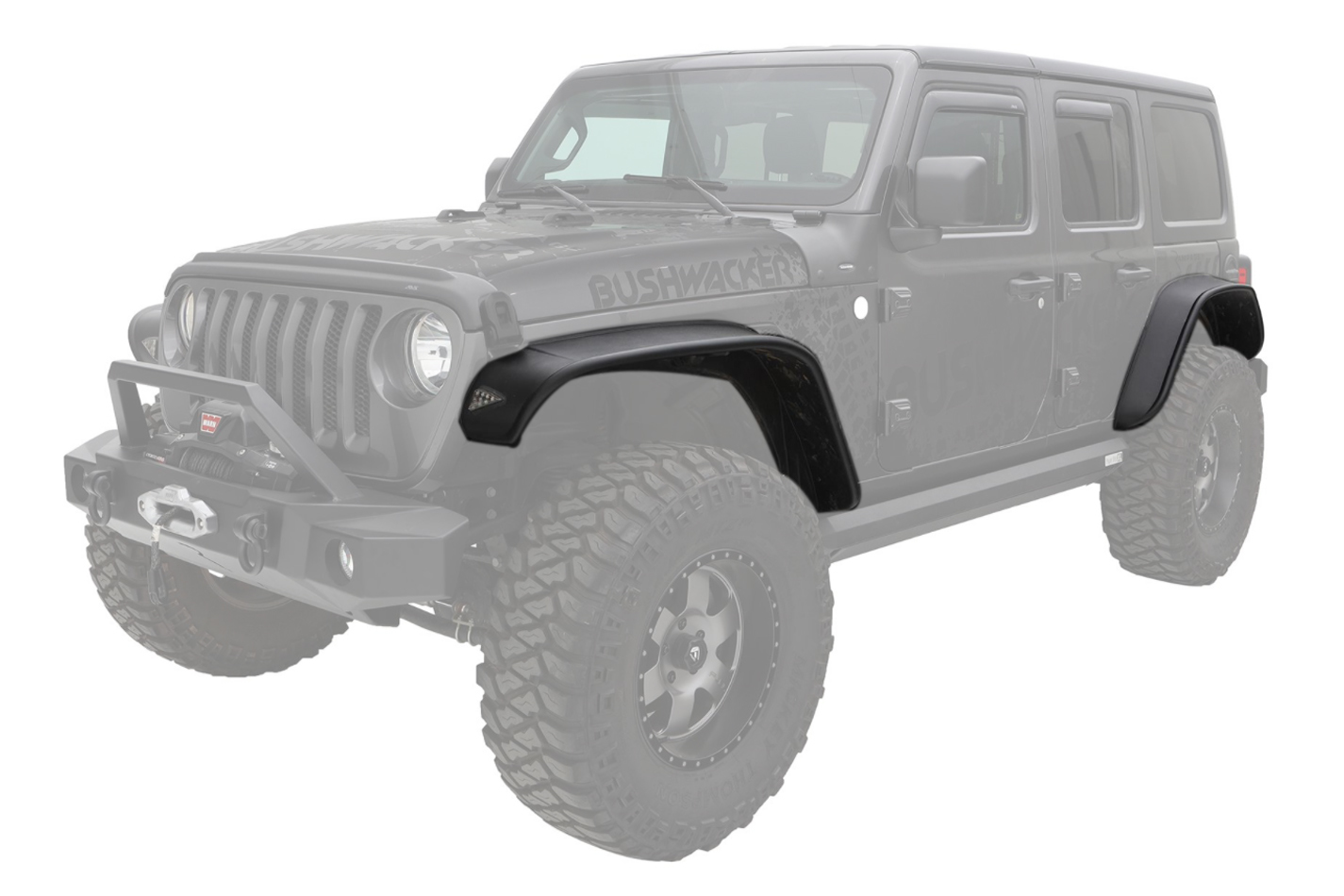 18-   Jeep JL 4DR Fender Flares 4Pc Flat Style