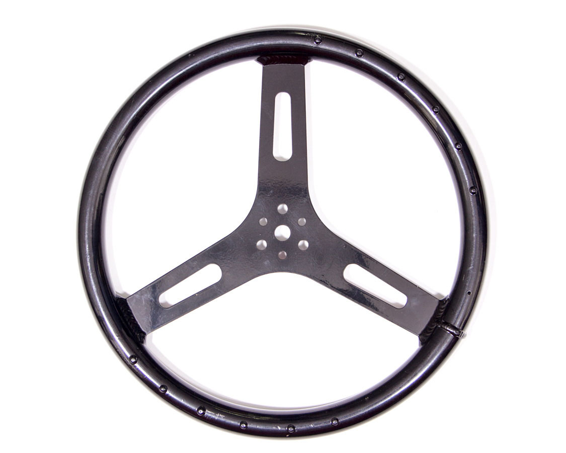 15in 1.250in Tube Flat Alum Wheel Black