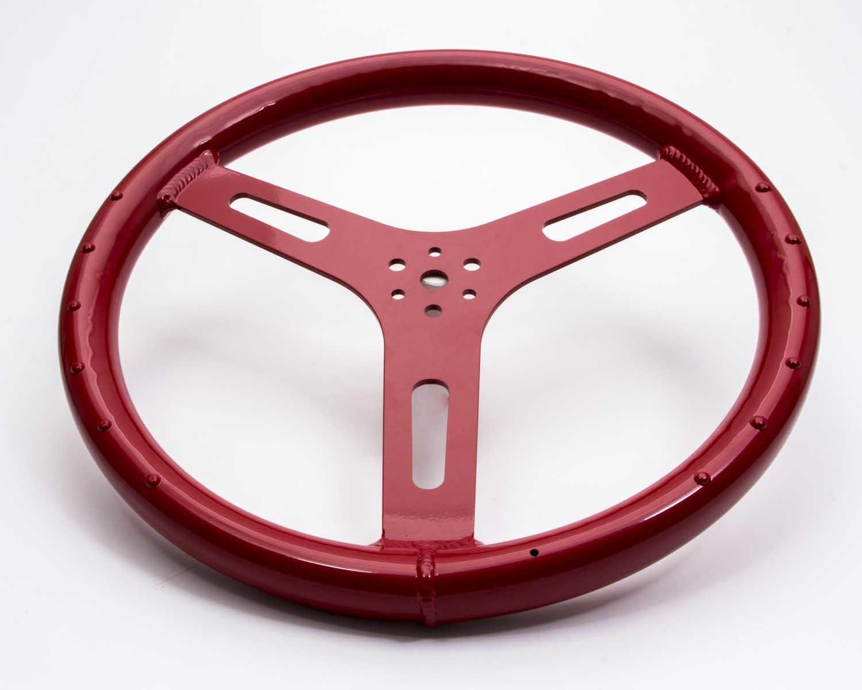 15in 1.250in Tube Flat Alum Wheel Red