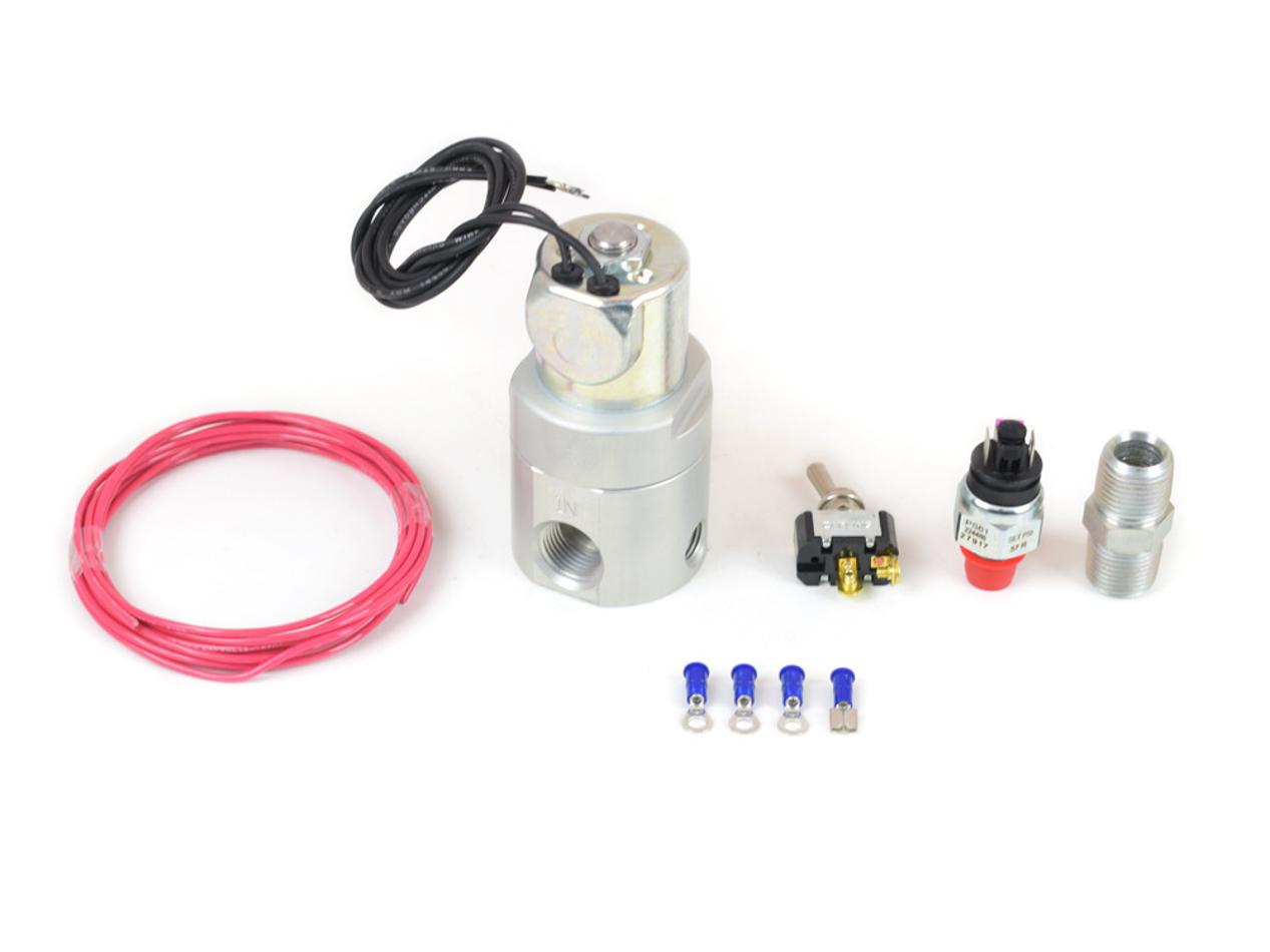Canton 24-275X Shut Off Valve, Oil Accumulator, 12V Pressure Control, 55-60 psi, 1/2 in NPT Female Ports, Kit