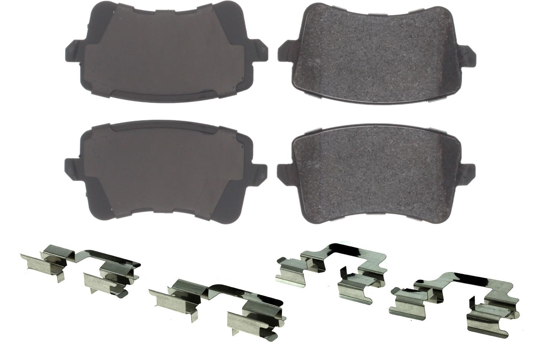 Centric Brake Parts 104.13861 Brake Pads, Posi-Quiet, Semi-Metallic, Audi 2008-17, Kit