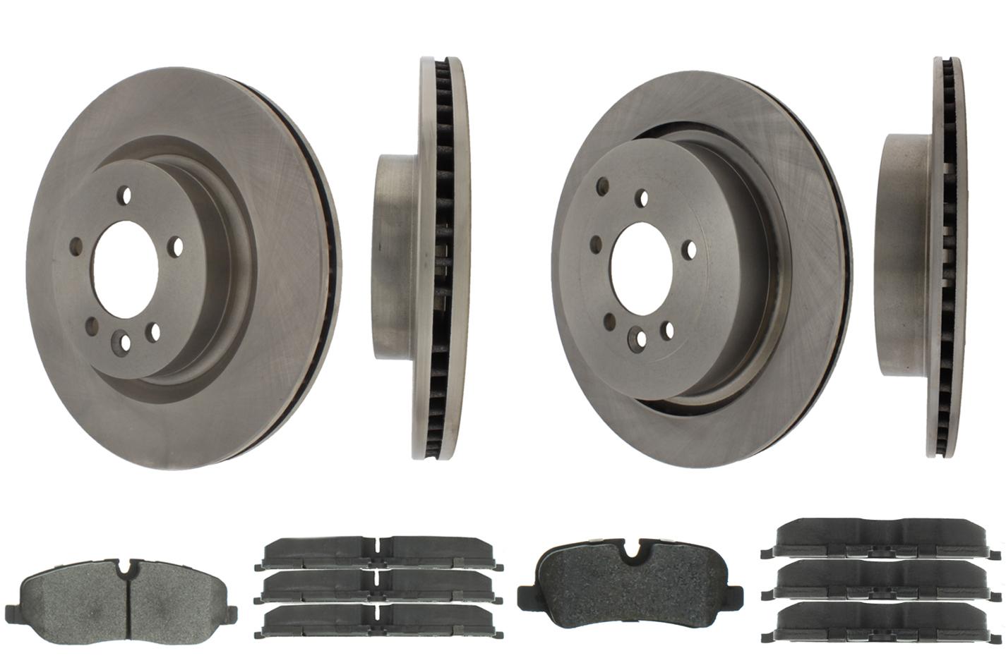 Centric Brake Parts 905.22003 Brake Rotor and Pad Kit, Premium, Semi-Metallic Pads, Iron, Natural, Land Rover LR3 / Range Rover Sport 2005-09, Kit