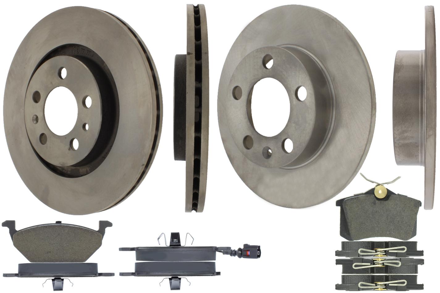 Centric Brake Parts 905.33067 Brake Rotor and Pad Kit, Premium, Semi-Metallic Pads, Iron, Natural, Volkswagen Beetle / Golf / Jetta 1999-2010, Kit
