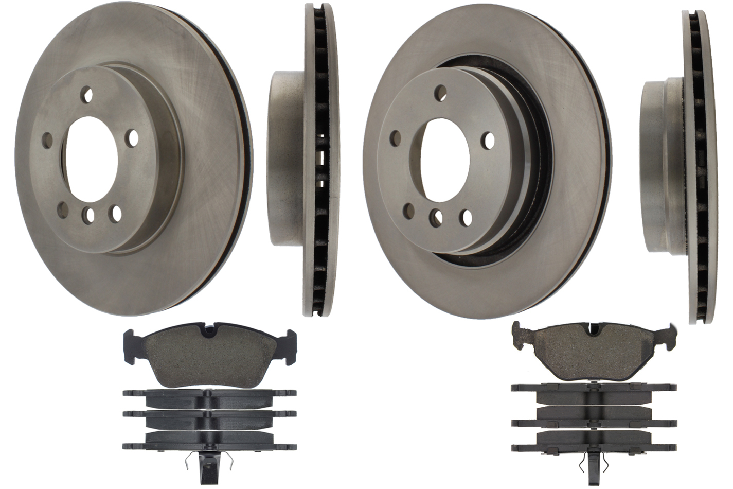 Centric Brake Parts 905.34042 Brake Rotor and Pad Kit, Premium, Semi-Metallic Pads, Iron, Natural, BMW 323ci / 323i / 325ci / 325i / 325xi / 328ci / 328i / 328is, Kit