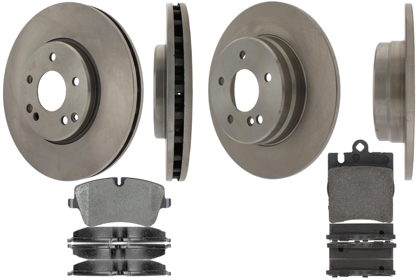 Centric Brake Parts 905.35020 Brake Rotor and Pad Kit, Premium, Semi-Metallic Pads, Iron, Natural, Mercedes-Benz C320 / C230 / C240 / CLK320 / C280 / CLK350, Kit