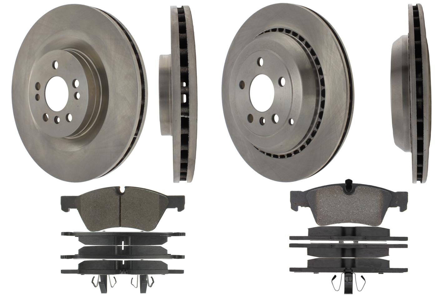 Centric Brake Parts 905.35066 Brake Rotor and Pad Kit, Premium, Semi-Metallic Pads, Iron, Natural, Mercedes-Benz, Kit