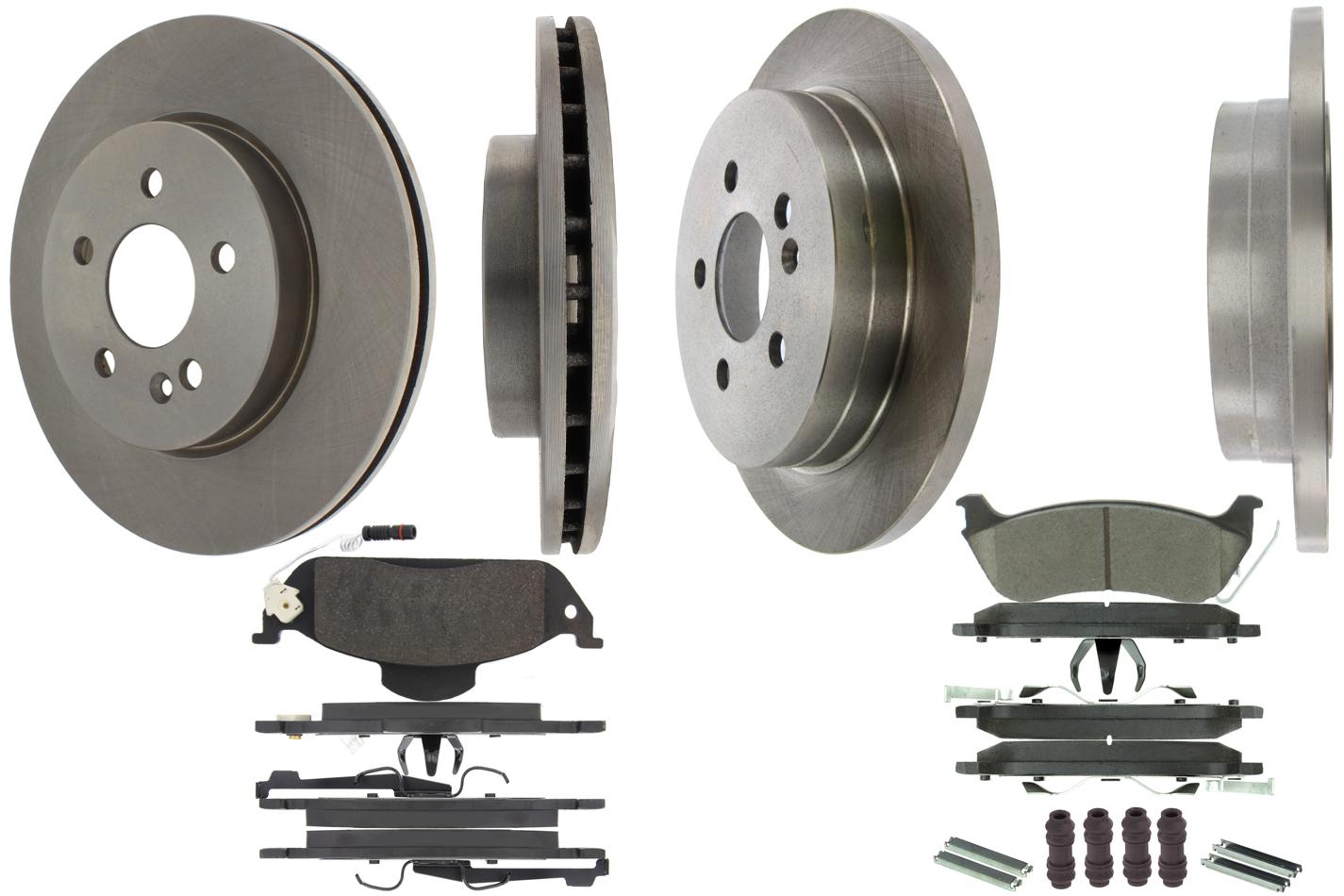 Centric Brake Parts 905.35157 Brake Rotor and Pad Kit, Premium, Semi-Metallic Pads, Iron, Natural, Mercedes-Benz ML320 / ML350 / ML430 1998-2005, Kit