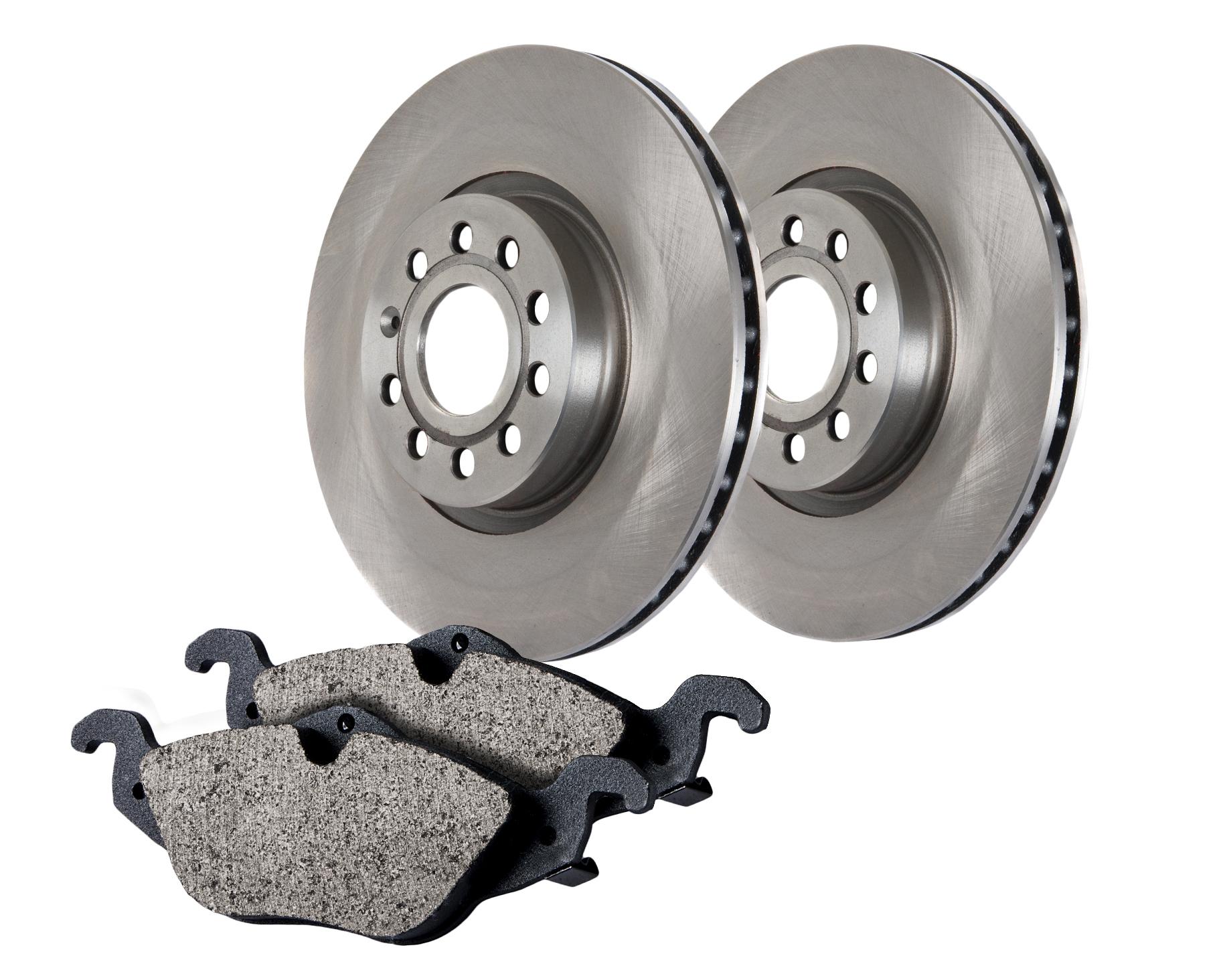 Centric Brake Parts 905.61056 Brake Rotor and Pad Kit, Premium, Semi-Metallic Pads, Iron, Natural, Ford Fullsize Car 1996-97, Kit
