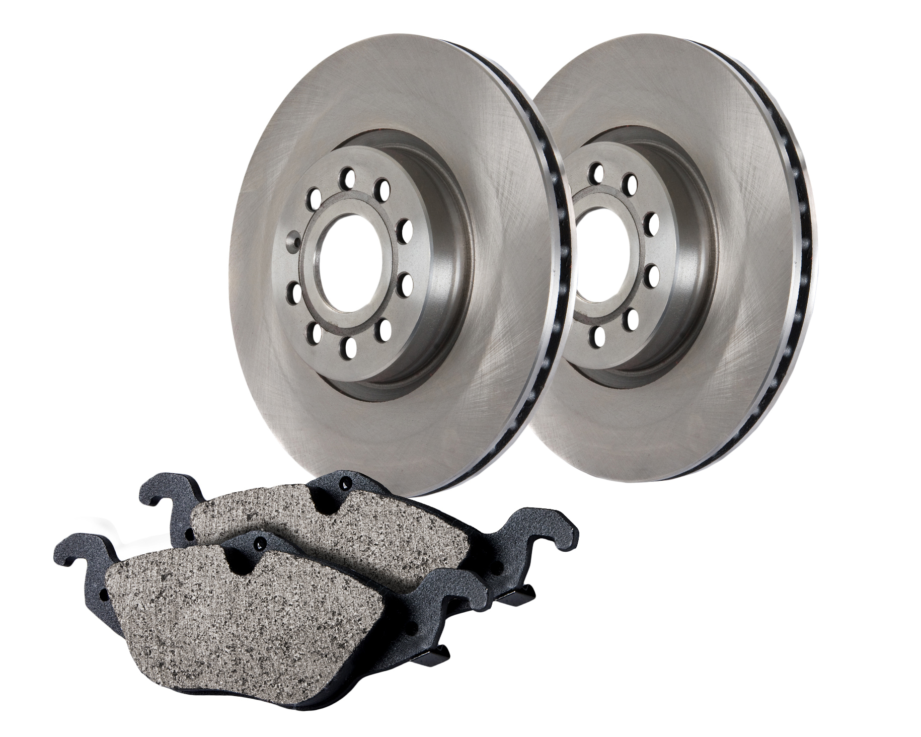 Centric Brake Parts 905.61057 Brake Rotor and Pad Kit, Premium, Semi-Metallic Pads, Iron, Natural, Ford Fullsize Car 1998-2002, Kit