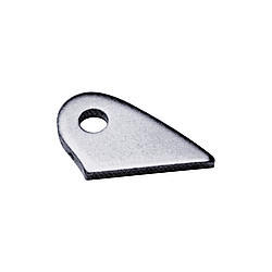 Chassis Engineering 3620-4 Chassis Tab, Crossmember Brace, 5/16 in Mounting Hole, 1/8 in Thick, Steel Natural, Each