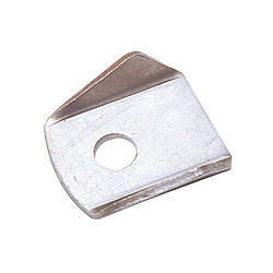 Chassis Engineering 3901 Chassis Tab, Bell Crank, 3/8 in Center Hole, 1/8 in Thick, Steel, Natural, Each
