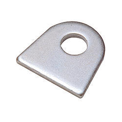 Chassis Engineering 3913 Chassis Tab, Flat, 1/2 in Mounting Hole, 3/16 in Thick, Steel, Natural, Each
