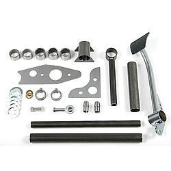 Chassis Engineering 4803 Pedal Assembly, Pro Pedal, Brake, Cross Bar Mount, Hardware Included, Steel, Natural, Kit