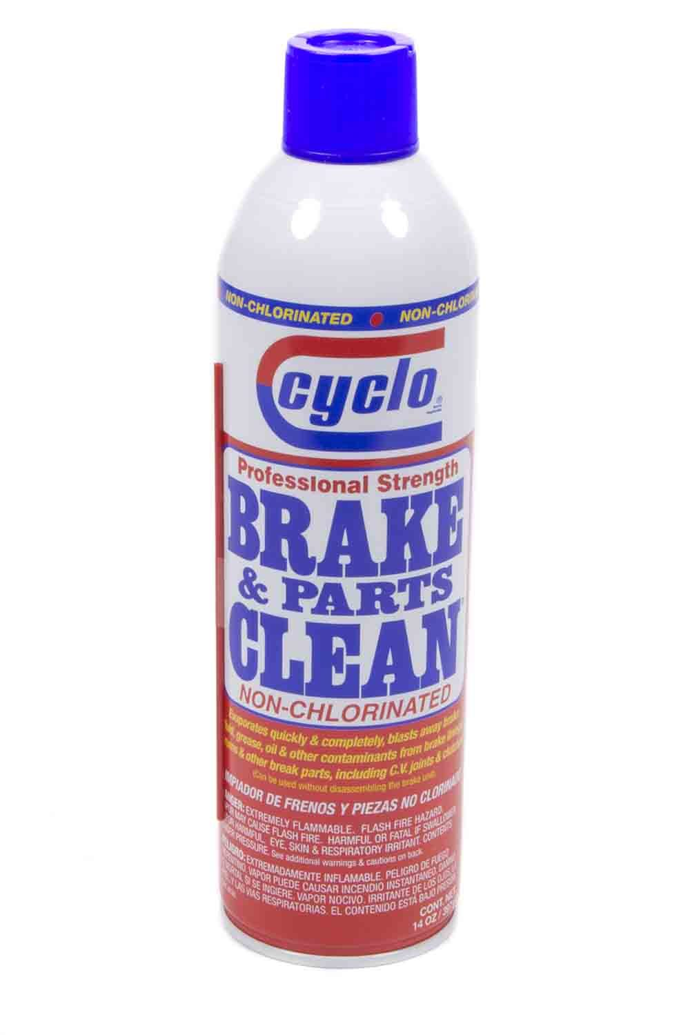 Clyco C111C Brake Cleaner, Brake and Parts Clean, Non-Chlorinated, 14.00 oz Aerosol, Each
