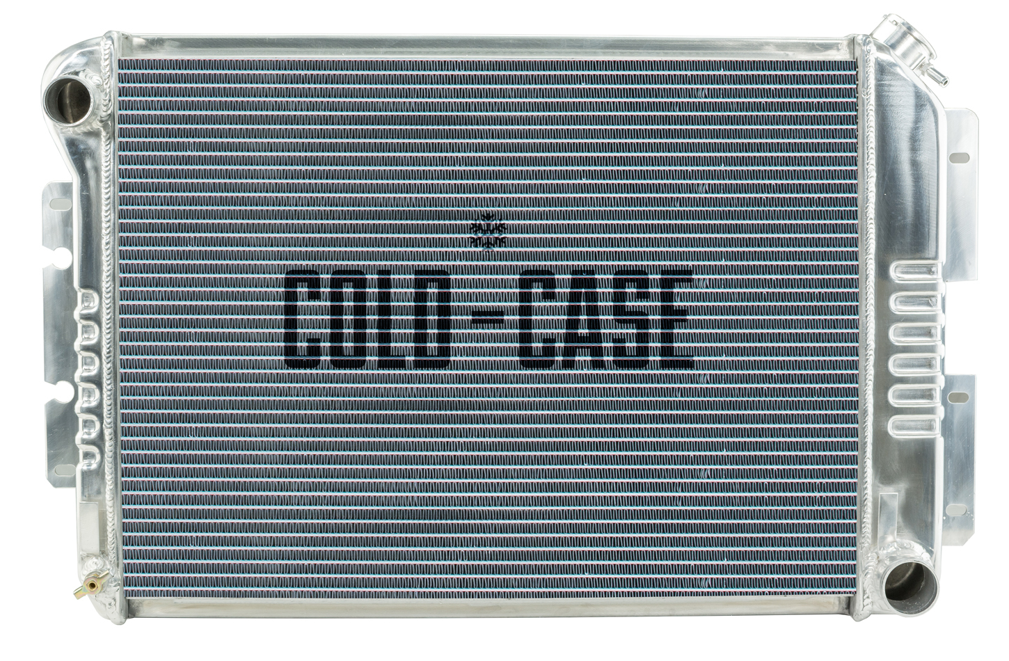 Cold Case Radiators CHC11 Radiator, 27.5 in W x 18.5 in H x 3 in D, Driver Side Inlet, Passenger Side Outlet, Aluminum, Polished, Manual, Big Block Chevy, GM F-Body 1967-68, Each