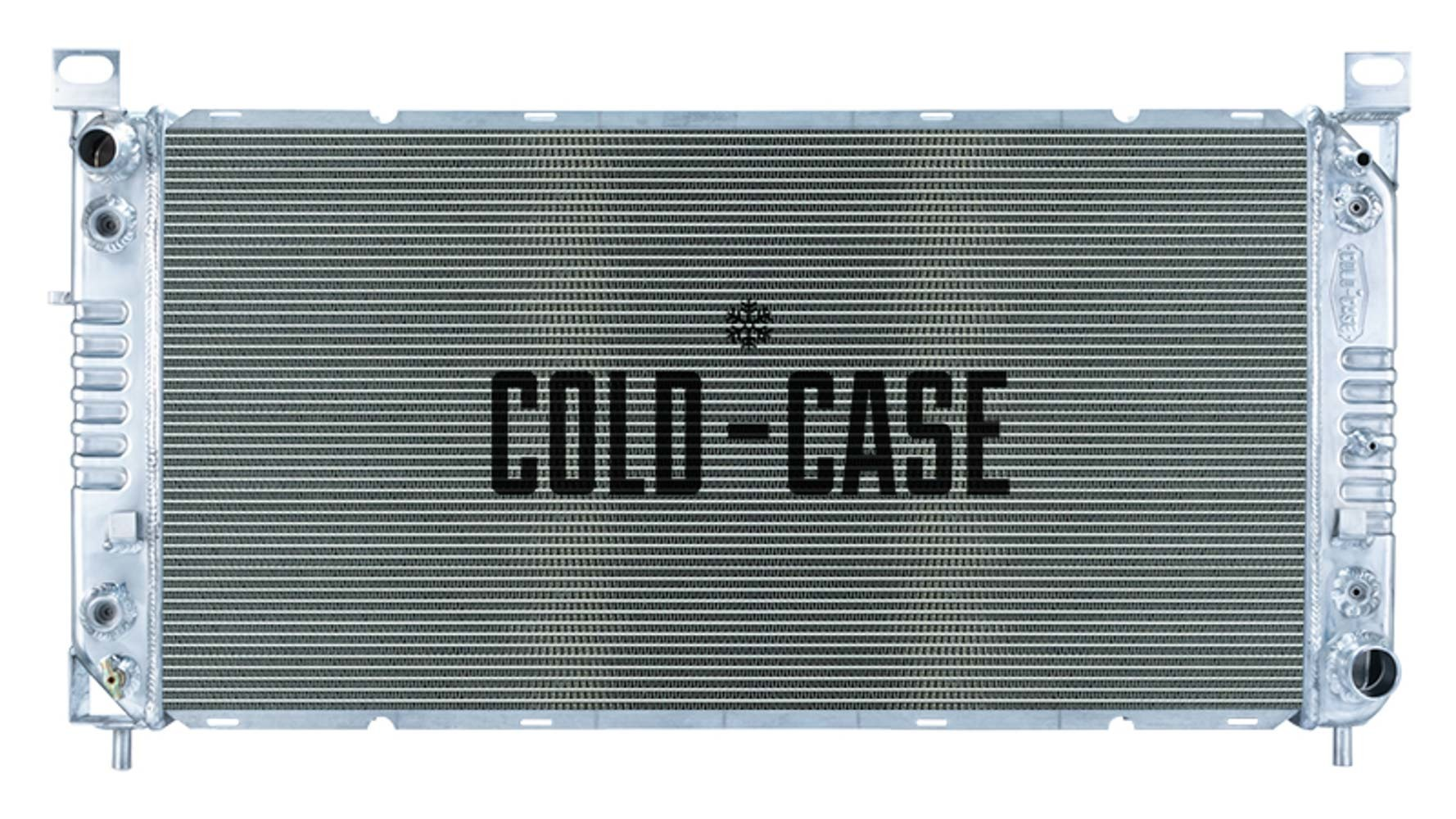 Cold Case Radiators GMT569A Radiator, 40 in W x 21 in H x 3 in D, Driver Side Inlet, Passenger Side Outlet, Aluminum, Polished, Automatic, Oil Cooler, GM Fullsize Truck 1999-2012, Each